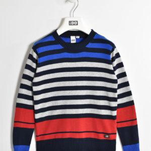 6d0baff8aa8c Maglia girocollo in tricot 100% cotone con fantasia rigata per bambino